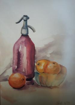 Pomaranče-akvarel