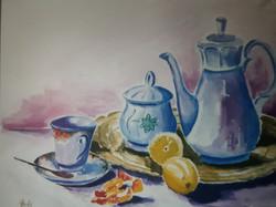 Čajnik-akvarel