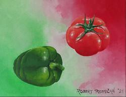 Paprika in paradižnik-akril