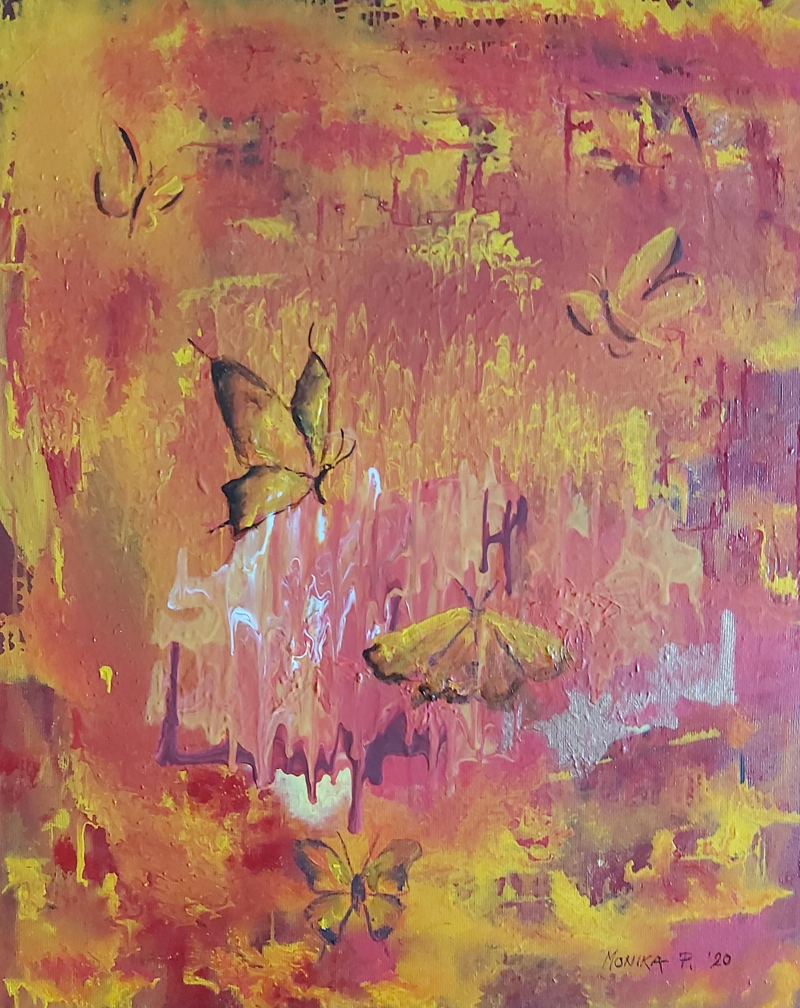 Ples metuljev-akril