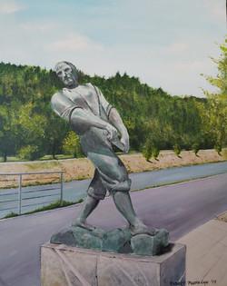 Kip splavarja-akril