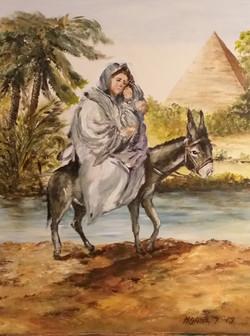 Marija z Jezusom-akril