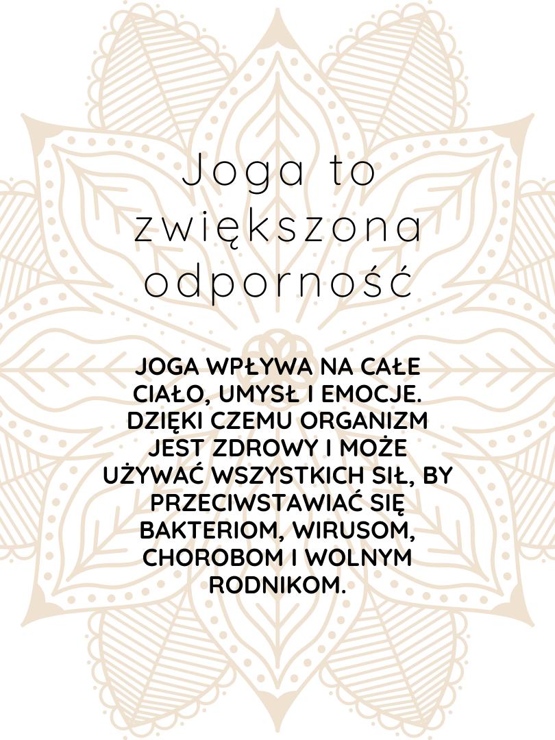joga to zwiększona odporność