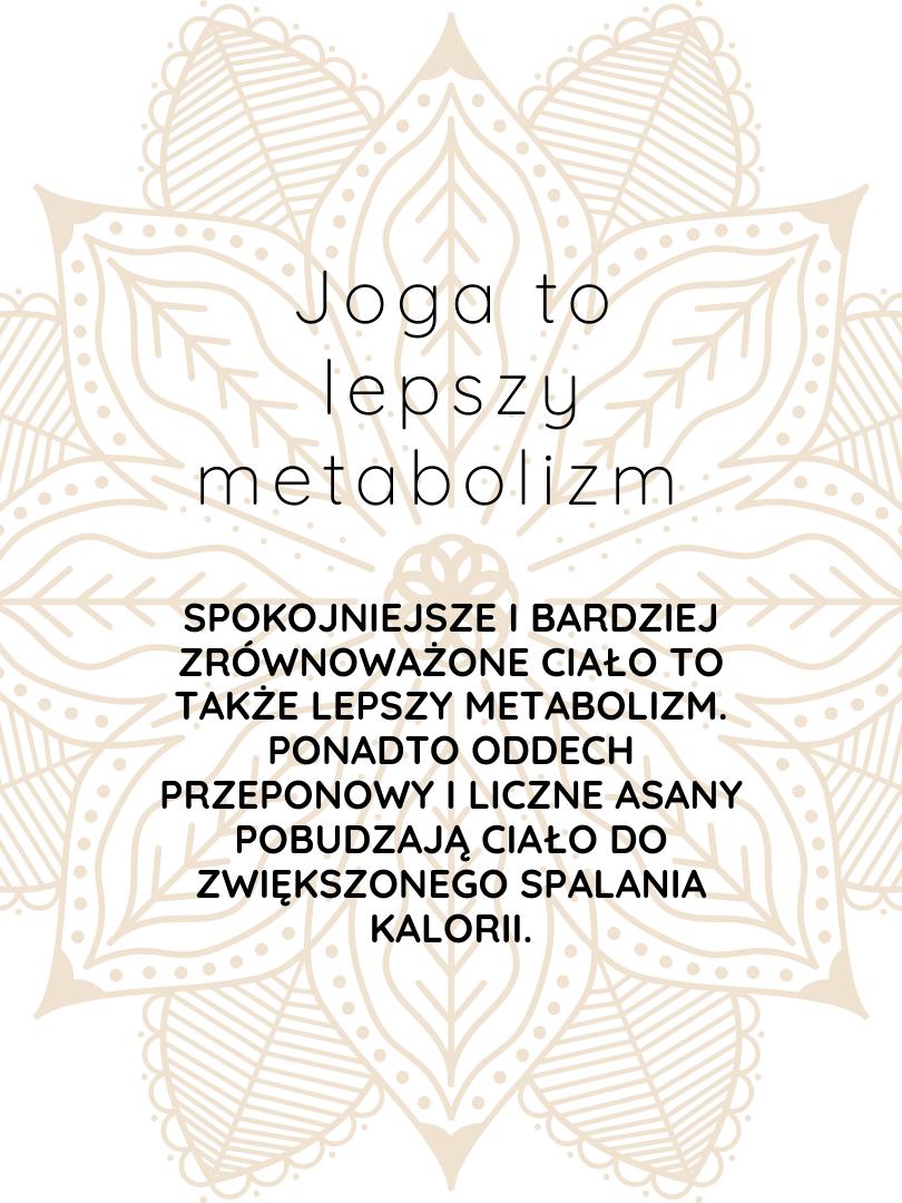 joga to lepszy metabolizm