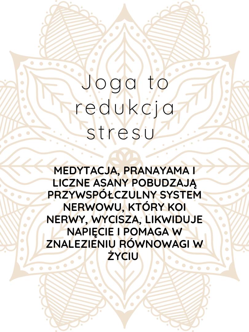 joga to redukcja stresu