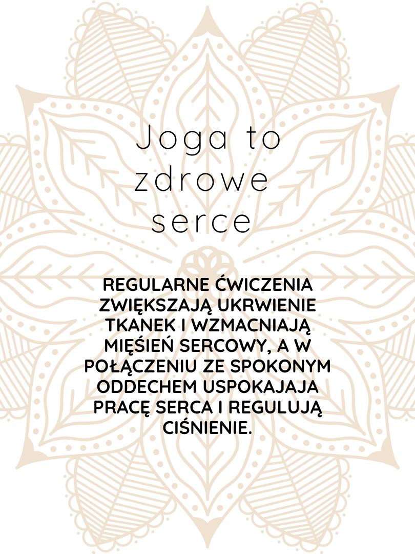 joga to zdrowe serce