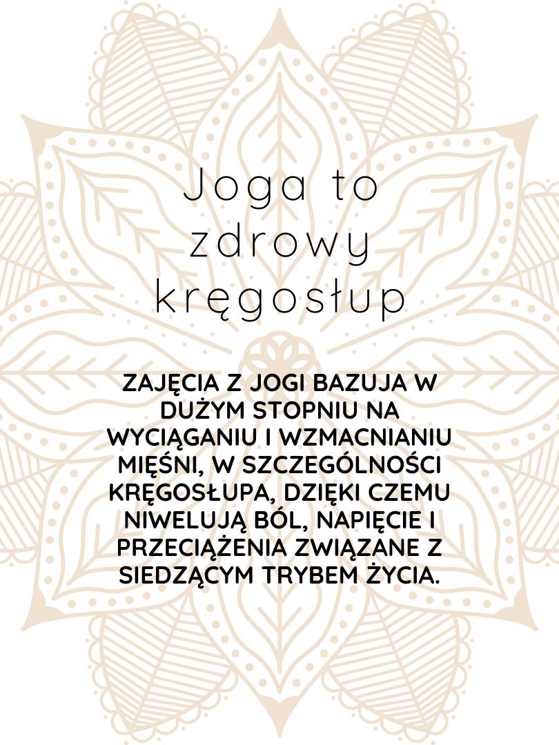 joga to zdrowy kręgosłup