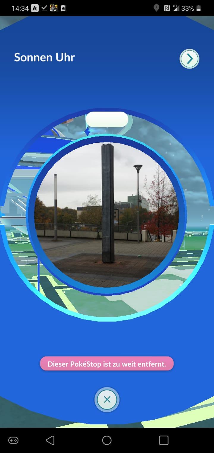 Sonnenuhr bei Pokemon GO