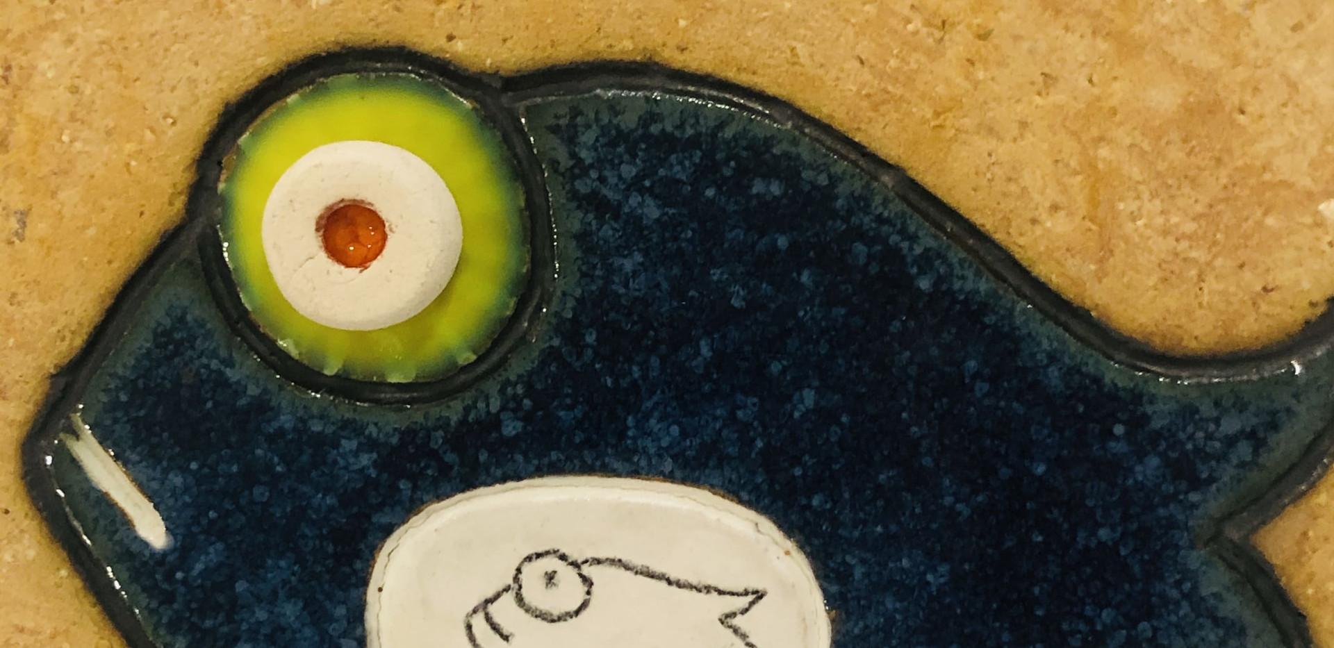 Portuguese tile. Azulejos. Mario.Fishes #9