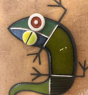 Portuguese tile. Azulejos. Lizards. Mario #3