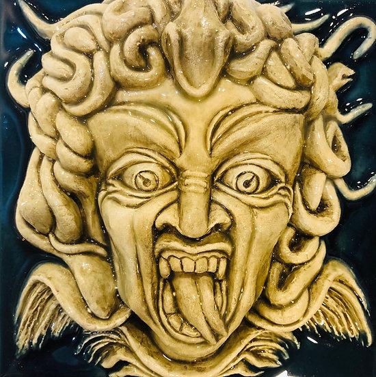 Portuguese tiles. Azulezos. Medusa.