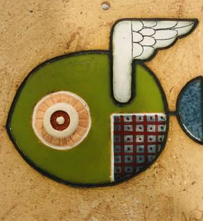 Portuguese tile. Azulejos. Mario.Fishes #2