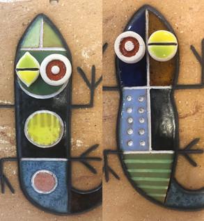 Portuguese tile. Azulejos. Lizards. Mario # choice