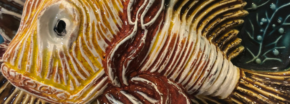 Portuguese tile. Azulejos. Scorpion fish.Maria