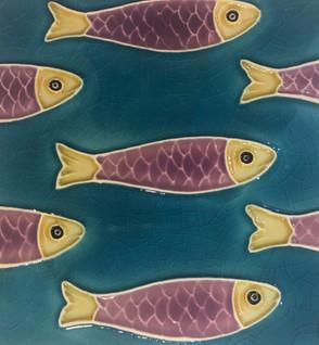 Portuguese tile. Azulejos. Sardinha#4