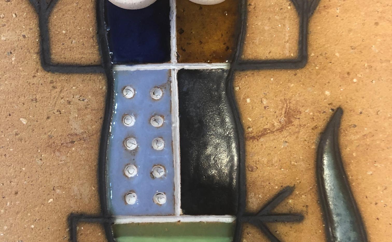Portuguese tile. Azulejos. Lizards. Mario