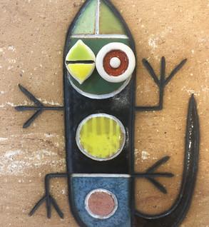 Portuguese tile. Azulejos. Lizard Mario #1
