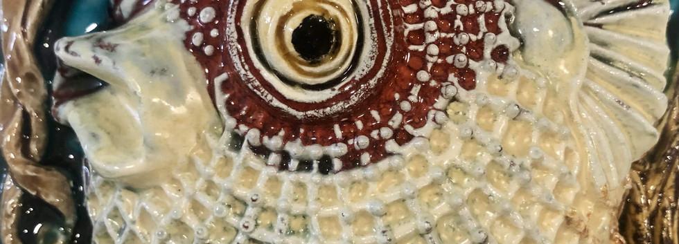 Portuguese tile. Azulejos. Puffefish-Maria #3