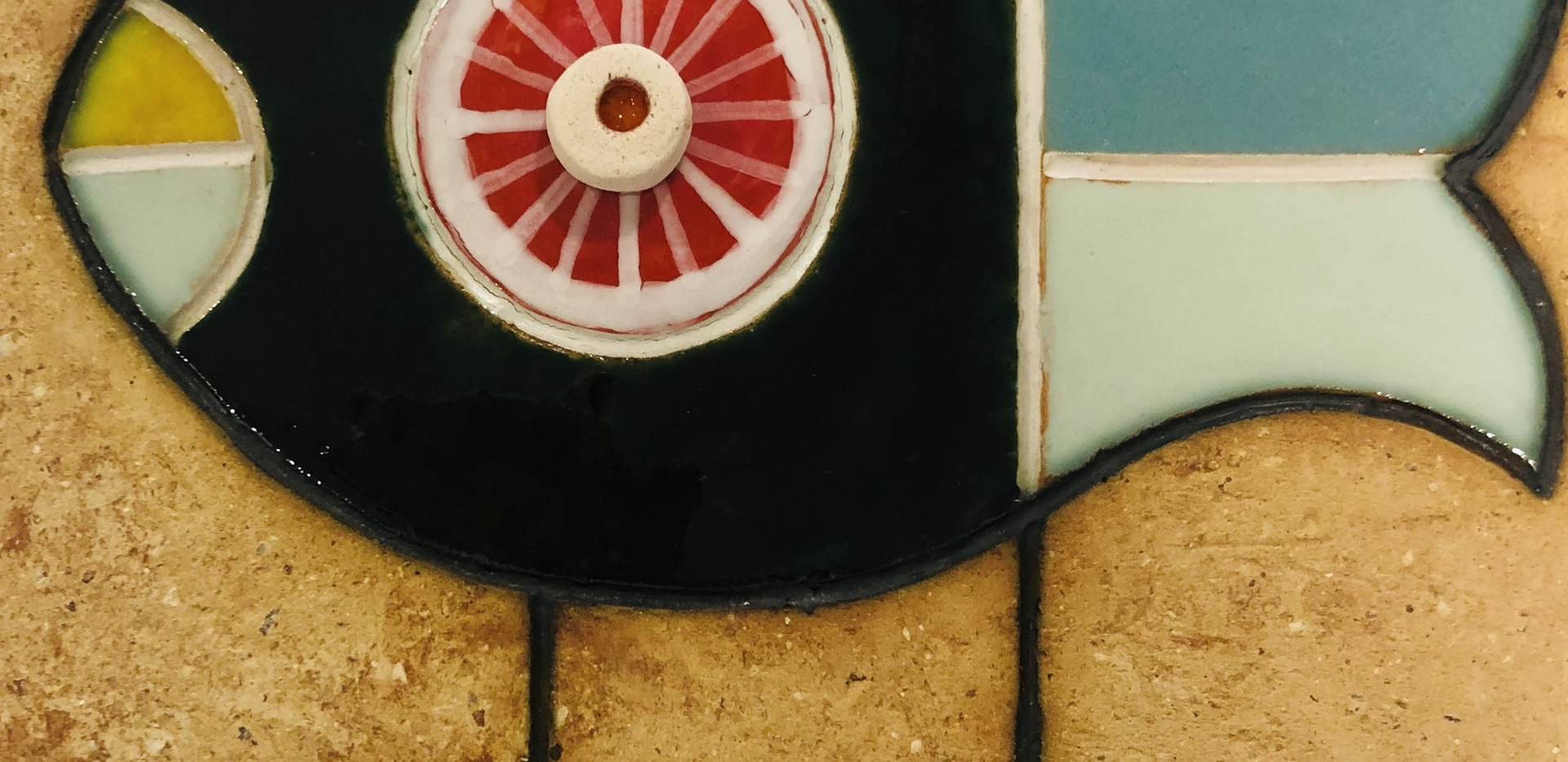 Portuguese tile. Azulejos. Mario.Fishes #3