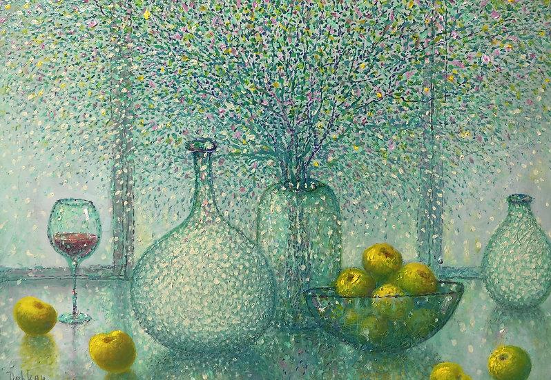 Derkach Alexander.   Windoew and yellow apples