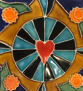 Portuguese tile. Azulejos.Heart.Rita #2