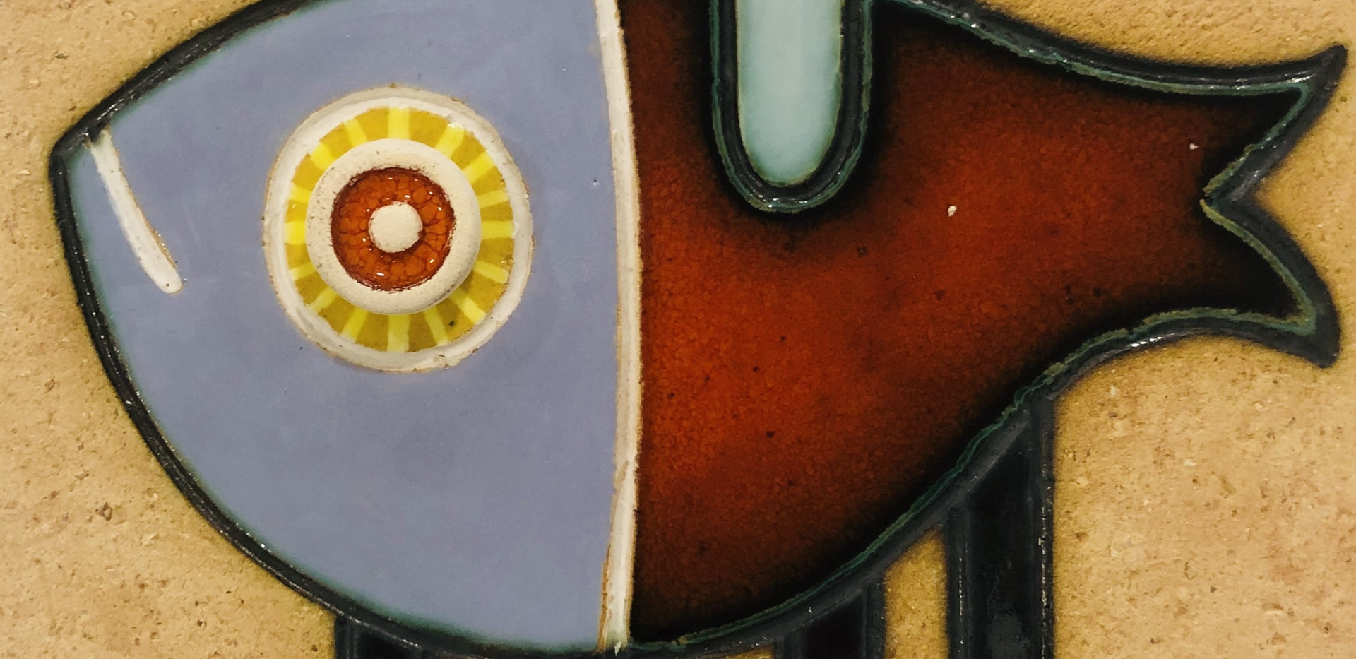 Portuguese tile. Azulejos. Mario.Fishes #4
