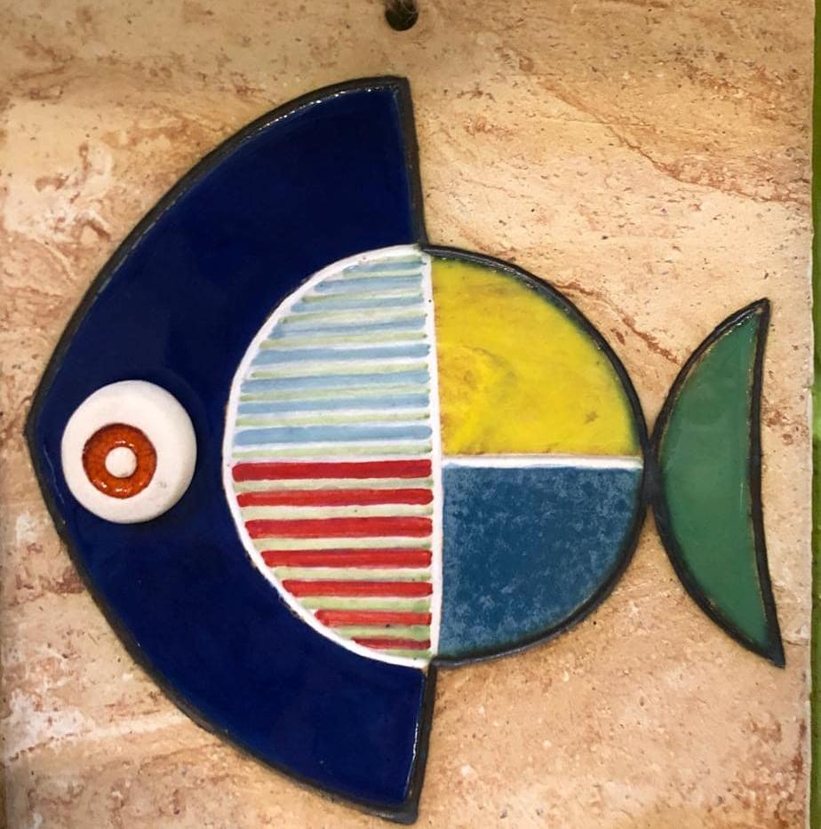 Portuguese tile. Azulejos. Mario.Fishes #100