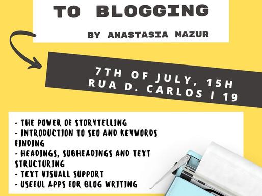Introduction to Blogging - free workshop in English language