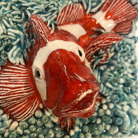 Portuguese tile. Azulejos. Tigerfish.