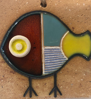 Portuguese tile. Azulejos. Fish #6