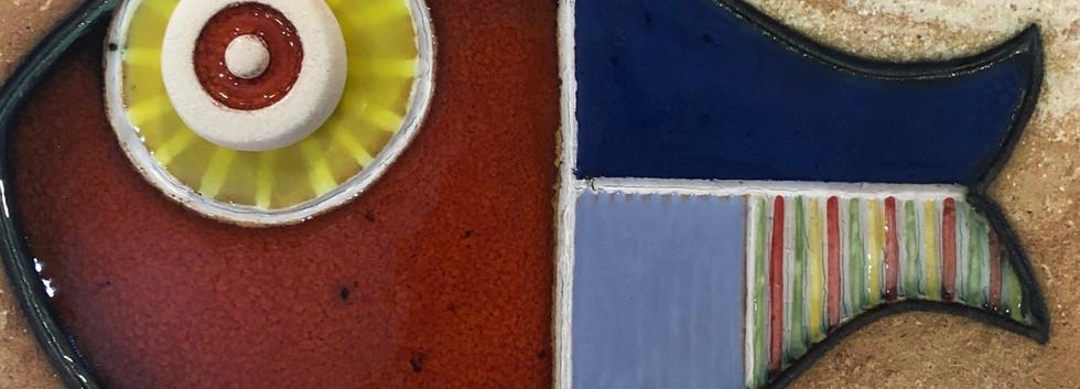 Portuguese tile. Azulejos. Fish #5