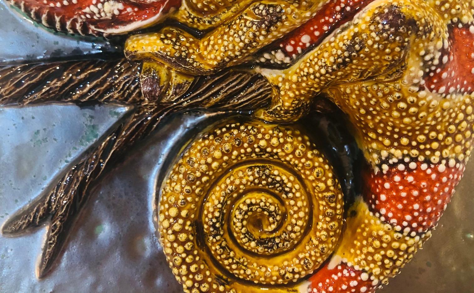 Portuguese tile. Azulejos. Lizards Maria 3D#1