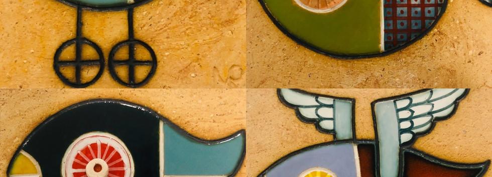 Portuguese tile. Azulejos. Mario.Fishes #all1