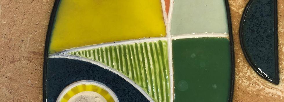 Portuguese tile. Azulejos. Fish #7