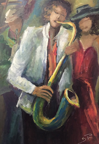 Sonia Poli. JAZZ BAND AND WOMEN IN RED