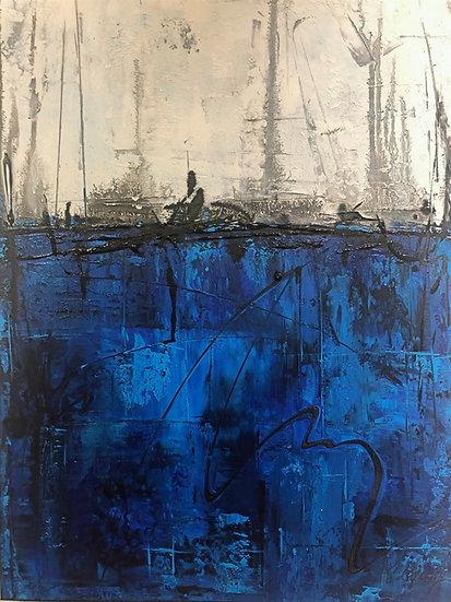 Edsperger Heidrun.   CELESTIAN SUITE IV . Blue.