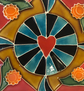 Portuguese tile. Azulejos.Heart.Rita #1