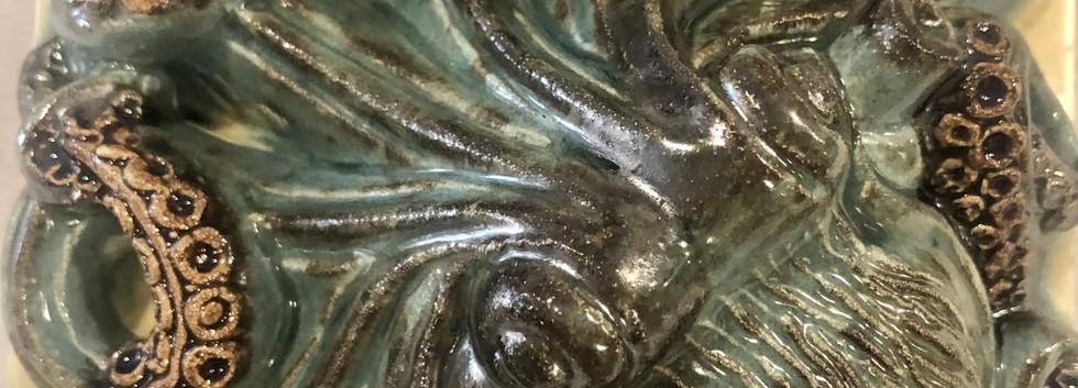 Portuguese tile. Azulejos. Оctopus. Maria #2