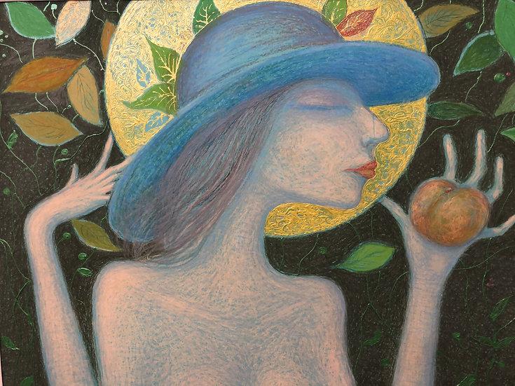 Derkach Alexander.   GIRL WITH A PEACH
