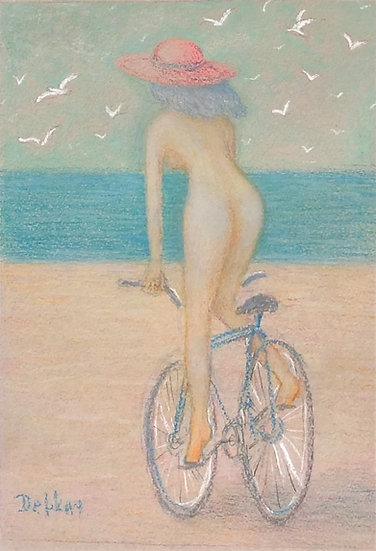NYMPH WITH BICYCLE