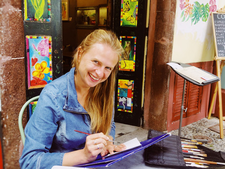 Marta Horodniczy - mother and artist.