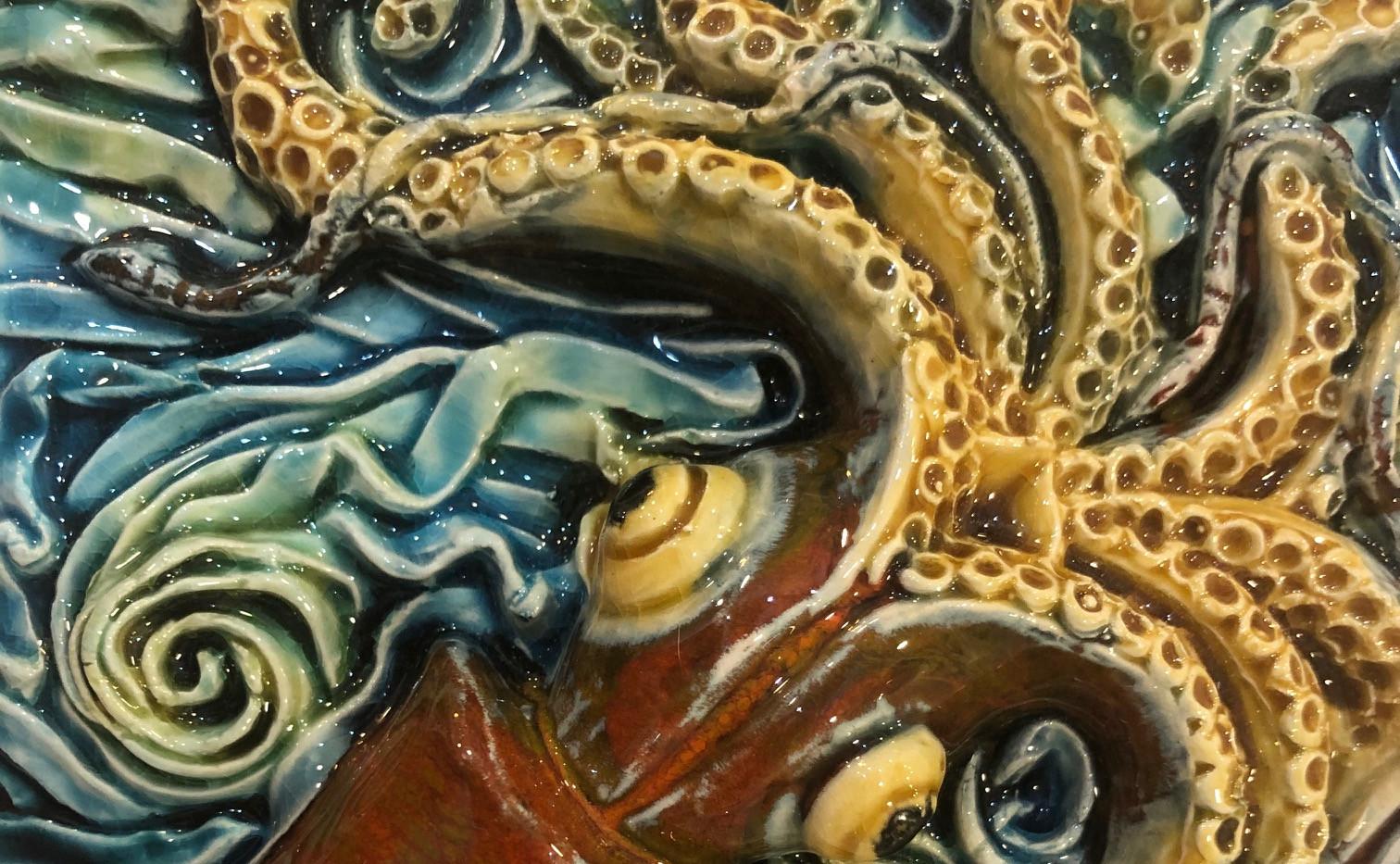 Portuguese tile. Azulejos. Squid.Maria#1