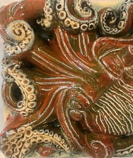 Portuguese tile. Azulejos. Оctopus. Maria #1
