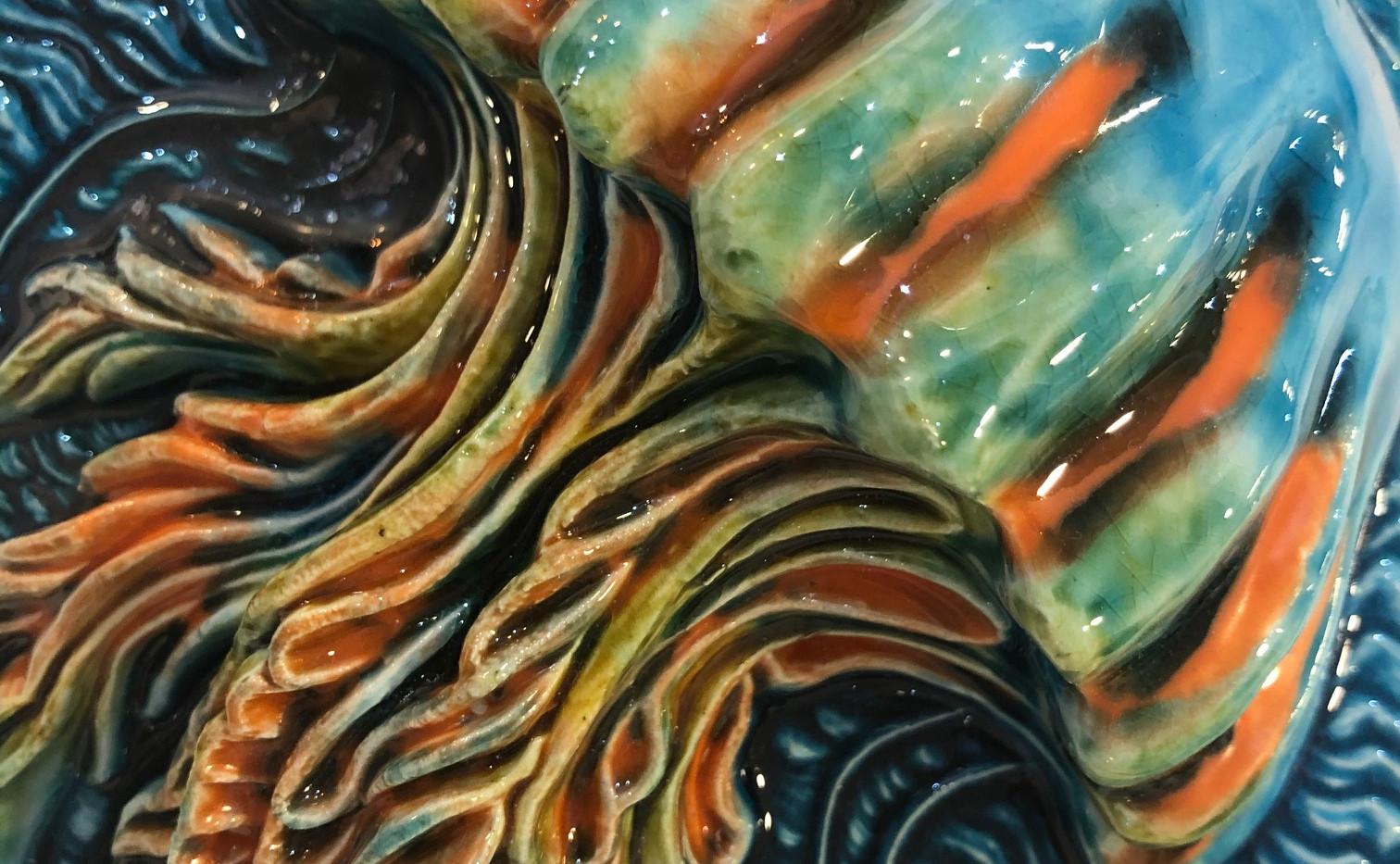 tile. Azulejos. Jellyfish. Maria #3