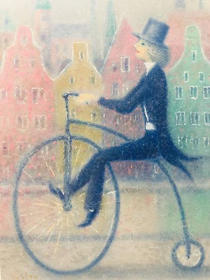 Derkach Alexander.   LA BICYCLETTE DANS LA VILLE