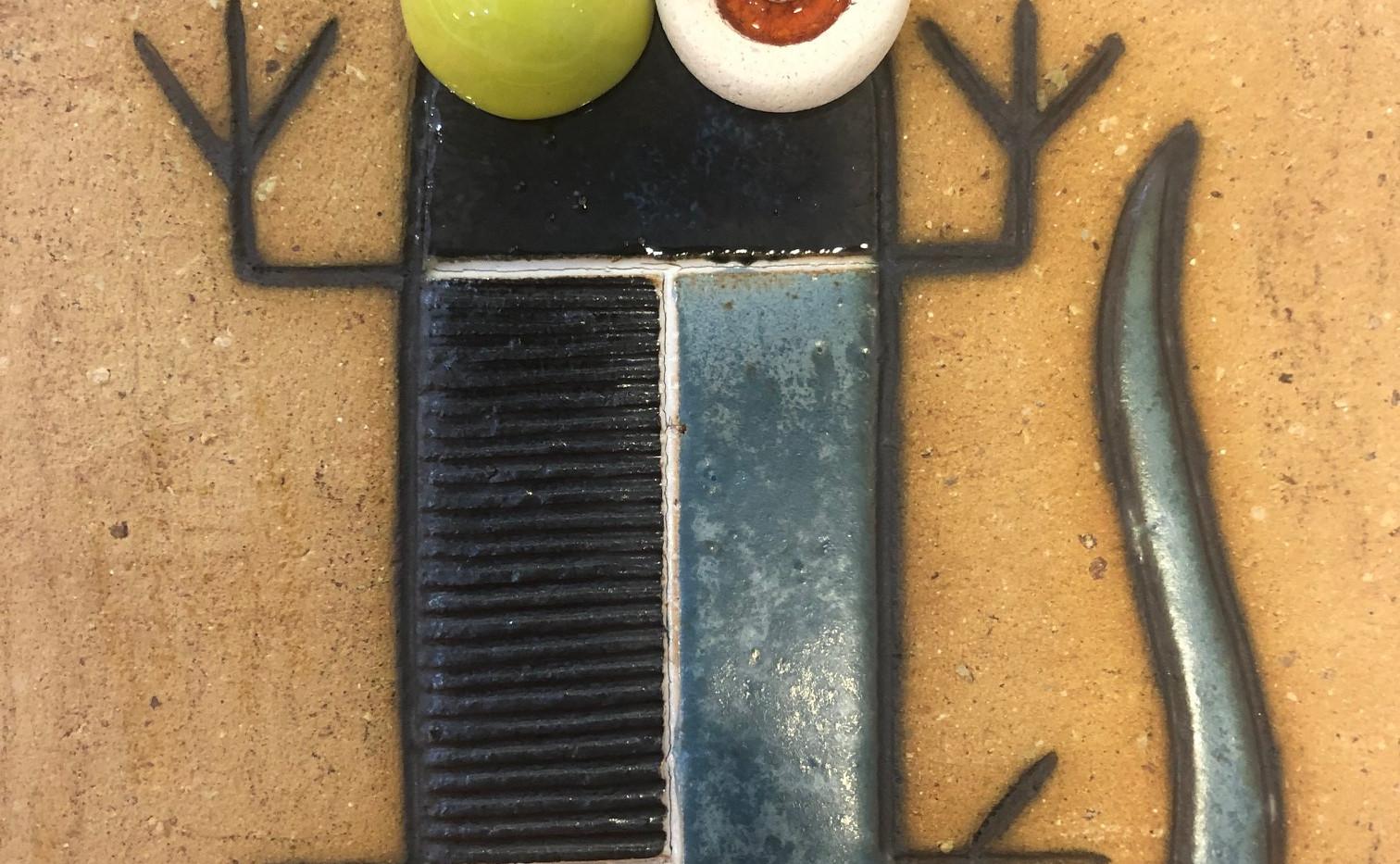 Portuguese tile. Azulejos. Lizards. Mario #6