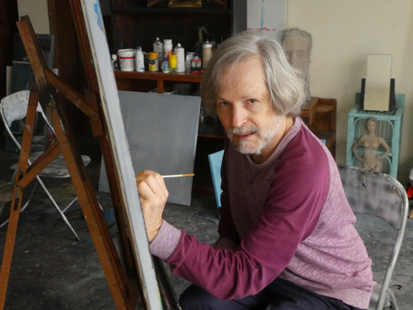 """Marcos Milewski from his private Art Studio for exhibition """"Ilhas 2020 - Isolation"""""""