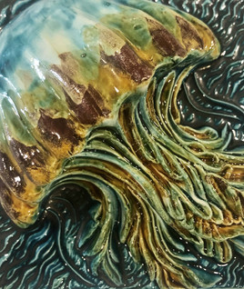 tile. Azulejos. Jellyfish. Maria #4