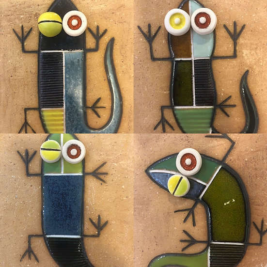 Portuguese tile. Azulejos. Lizards.