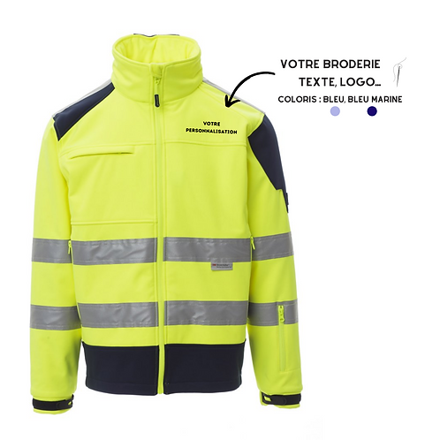 veste jaune haute visibilité personnalisable
